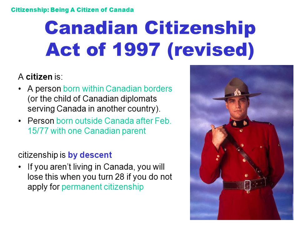 Canadian Citizenship Act of 1997 (revised)