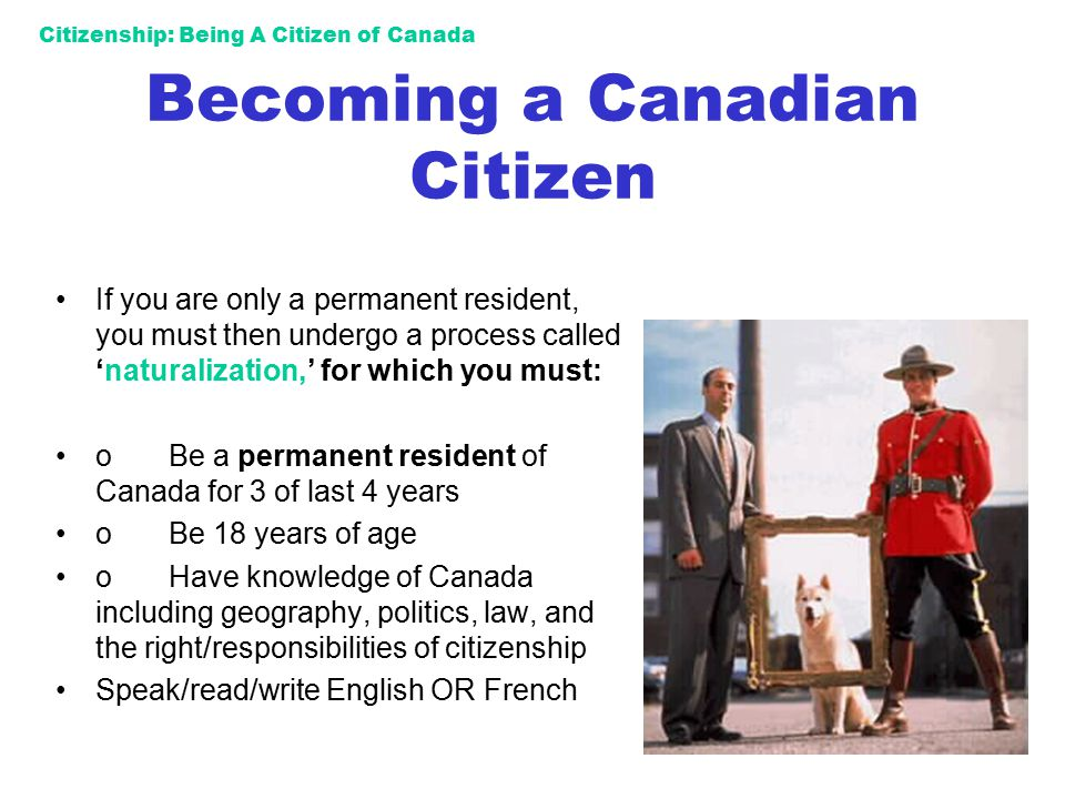 Becoming a Canadian Citizen