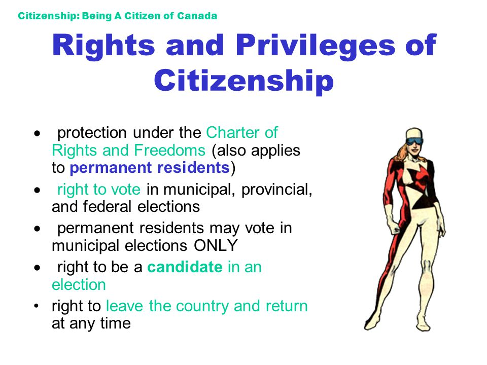 Rights and Privileges of Citizenship