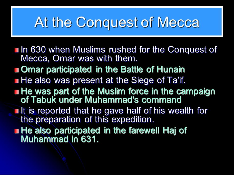 At the Conquest of Mecca