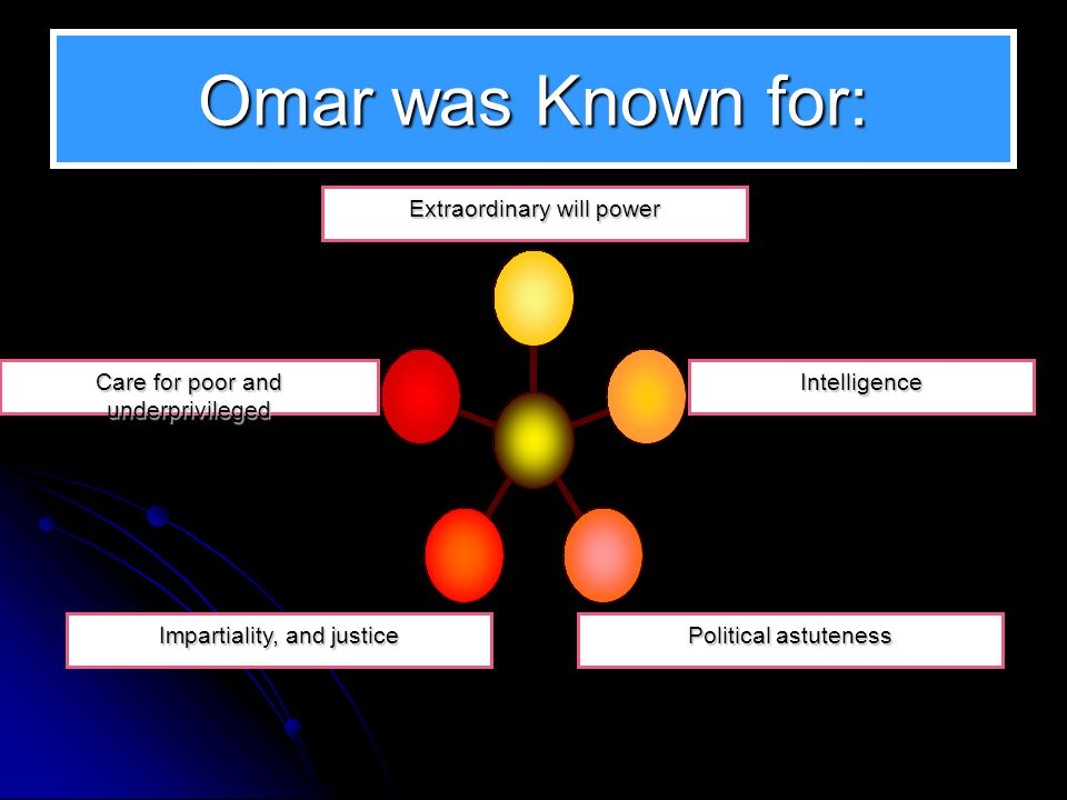 Omar was Known for: Extraordinary will power