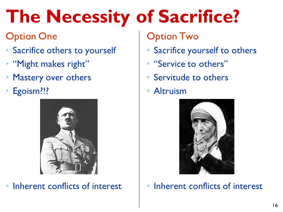The Necessity of Sacrifice