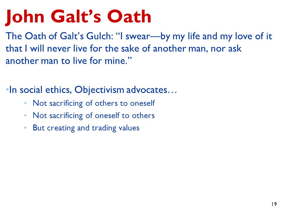 John Galt's Oath