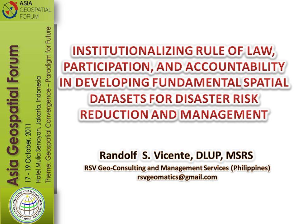 Randolf S. Vicente, DLUP, MSRS