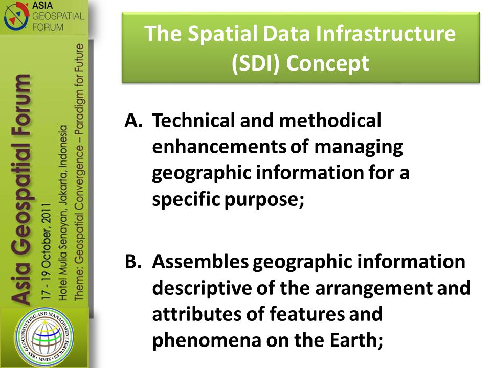 The Spatial Data Infrastructure (SDI) Concept