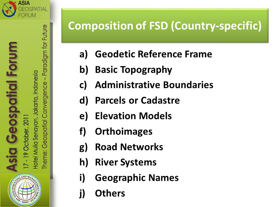 Composition of FSD (Country-specific)