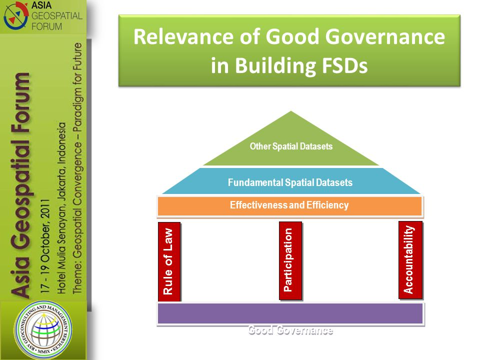 Relevance of Good Governance in Building FSDs