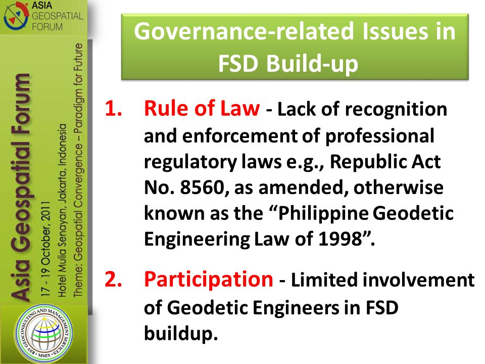 Governance-related Issues in FSD Build-up
