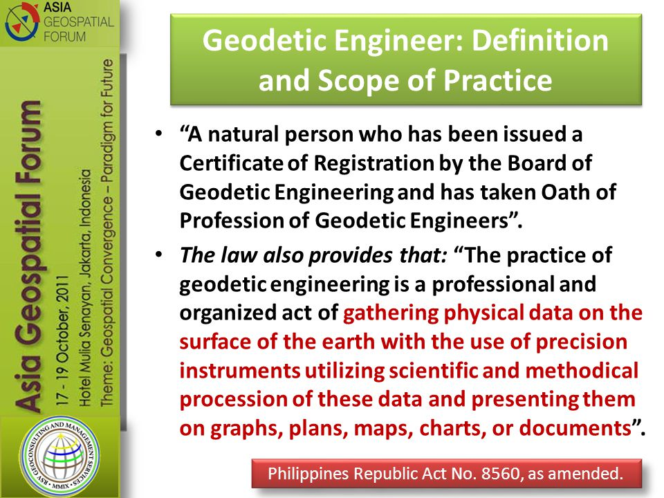 Geodetic Engineer: Definition and Scope of Practice