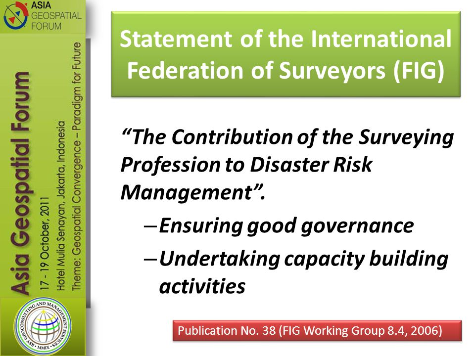 Statement of the International Federation of Surveyors (FIG)