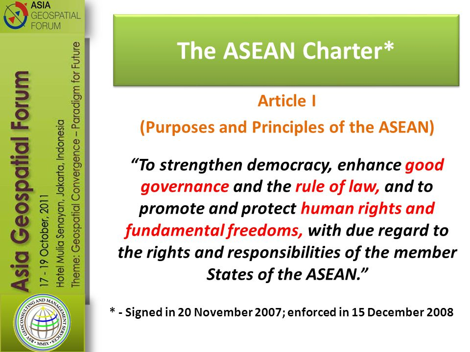 The ASEAN Charter*