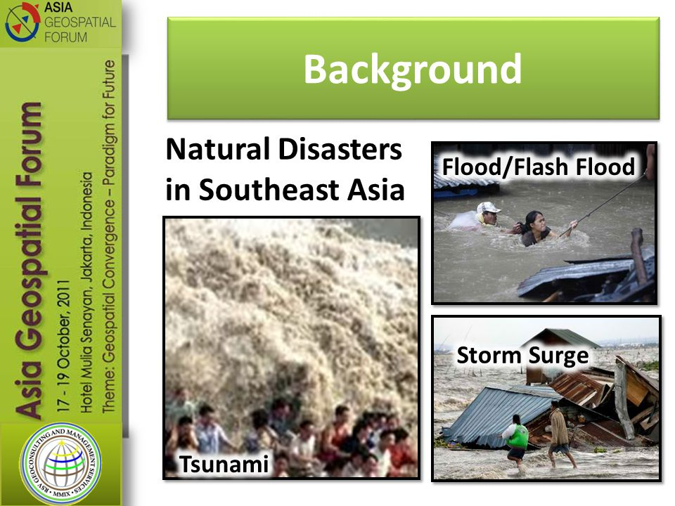 Background Natural Disasters in Southeast Asia Flood/Flash Flood