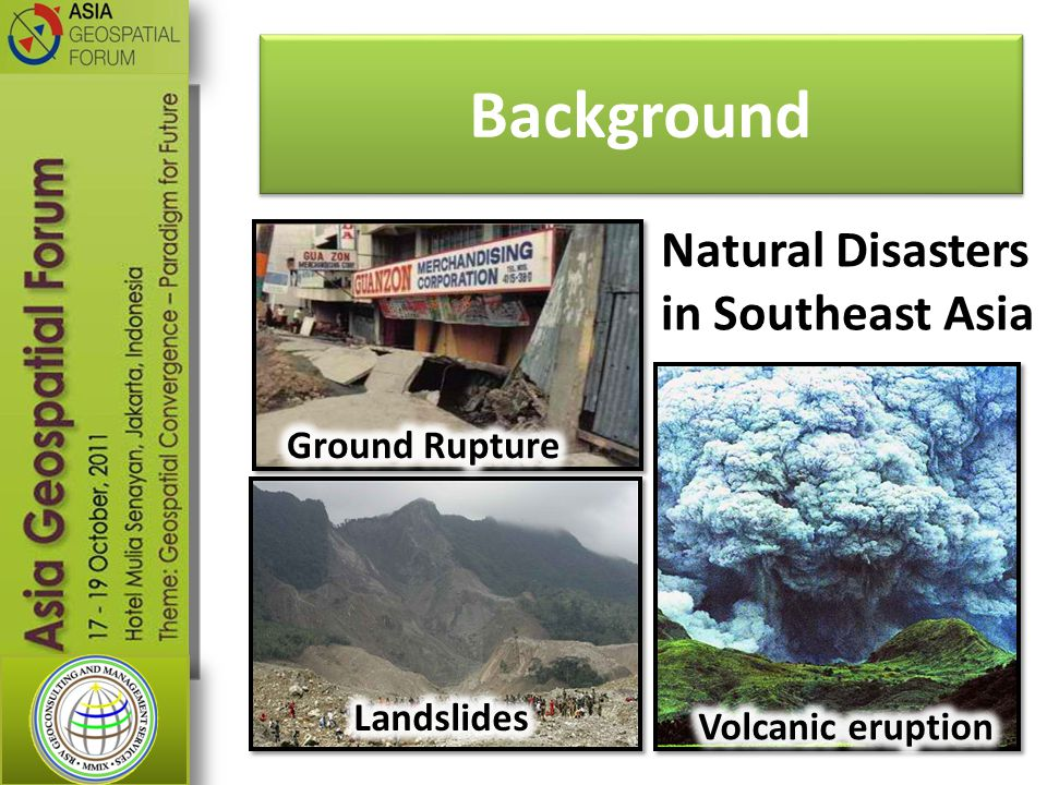 Background Natural Disasters in Southeast Asia Ground Rupture