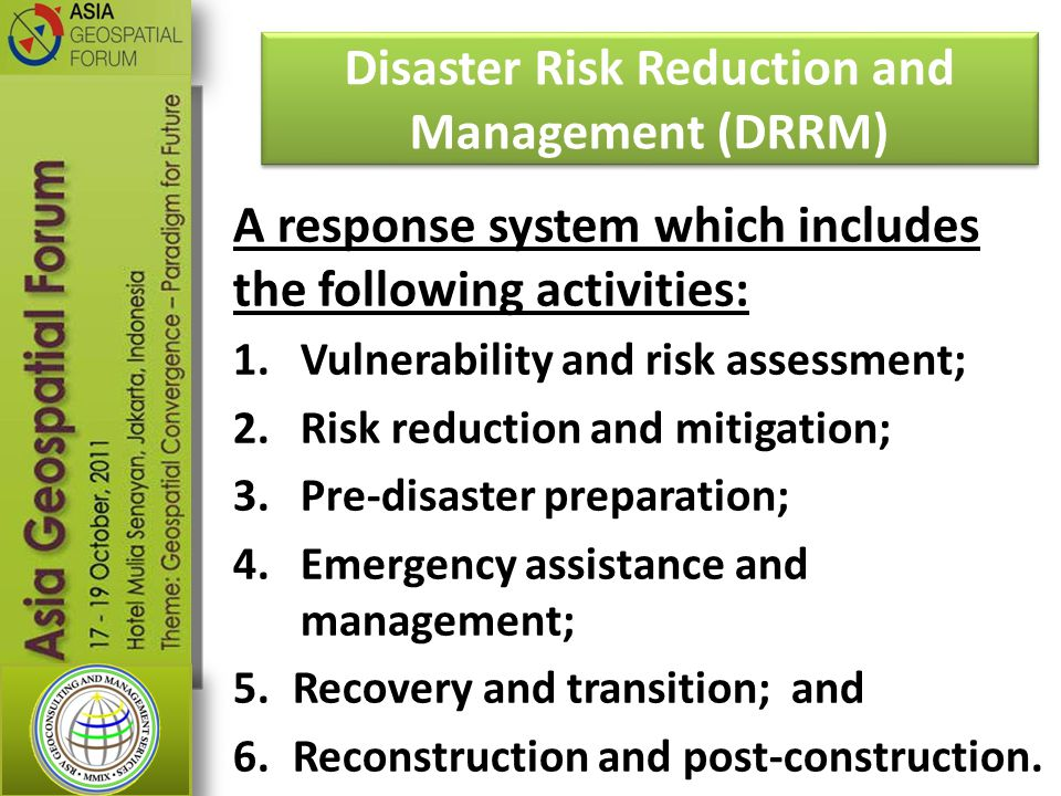 Disaster Risk Reduction and Management (DRRM)