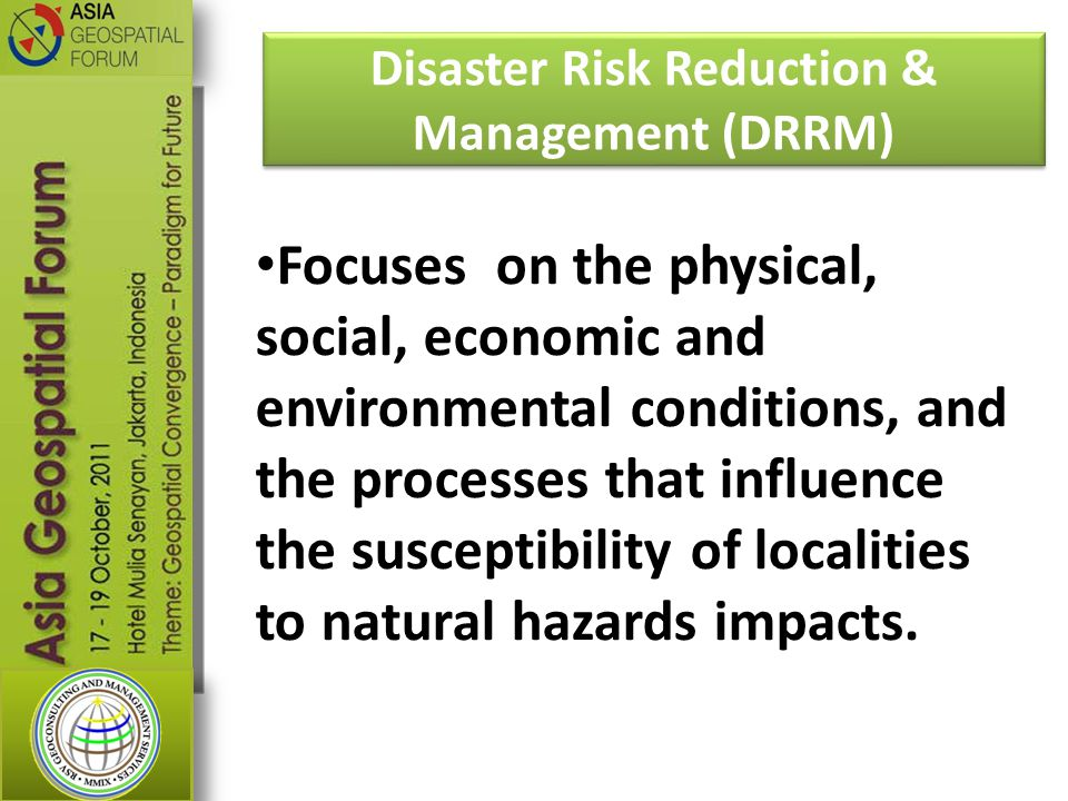 Disaster Risk Reduction & Management (DRRM)