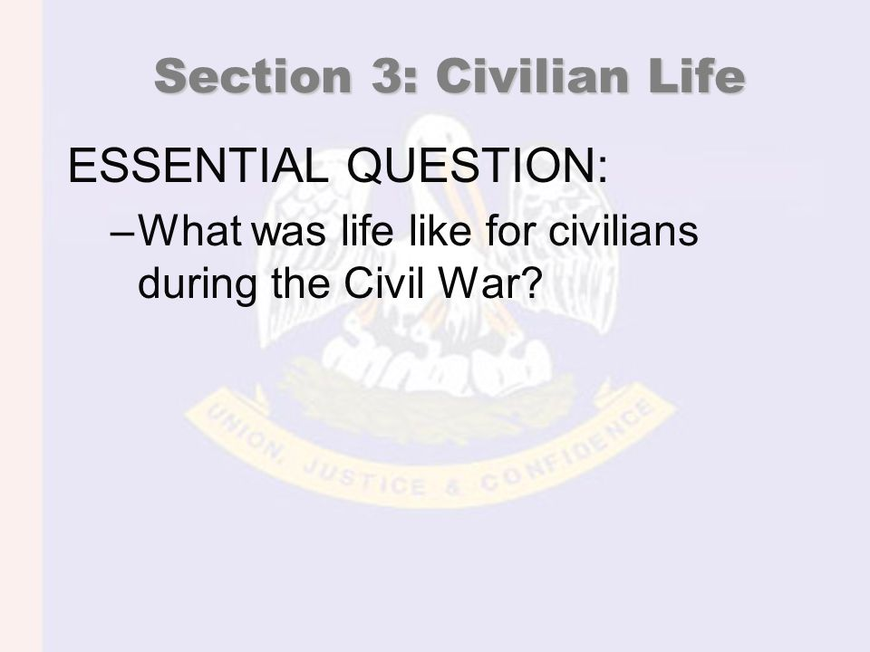 Civilian Life Union hoped to end the war sooner by making life miserable for civilians.