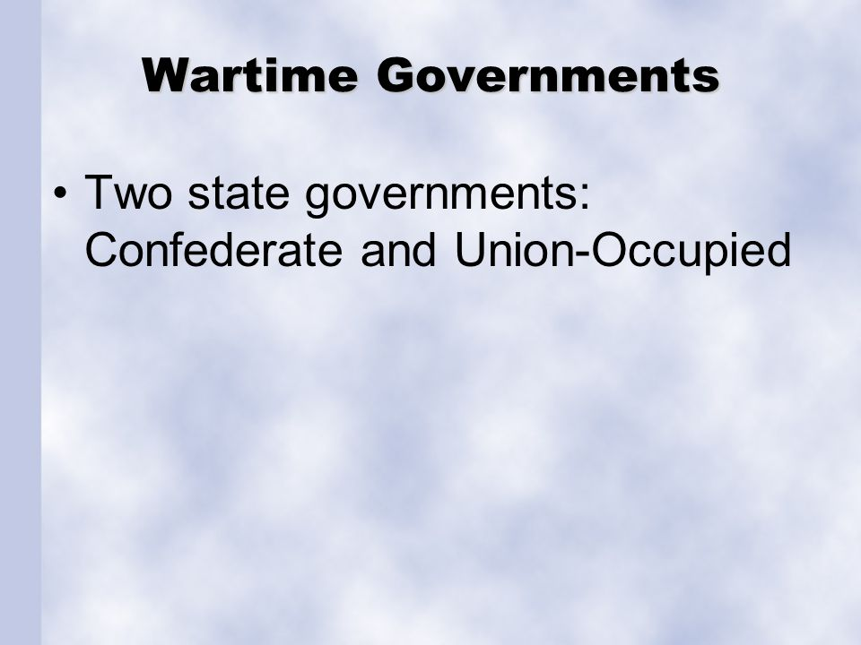 Government in Union-Occupied Louisiana