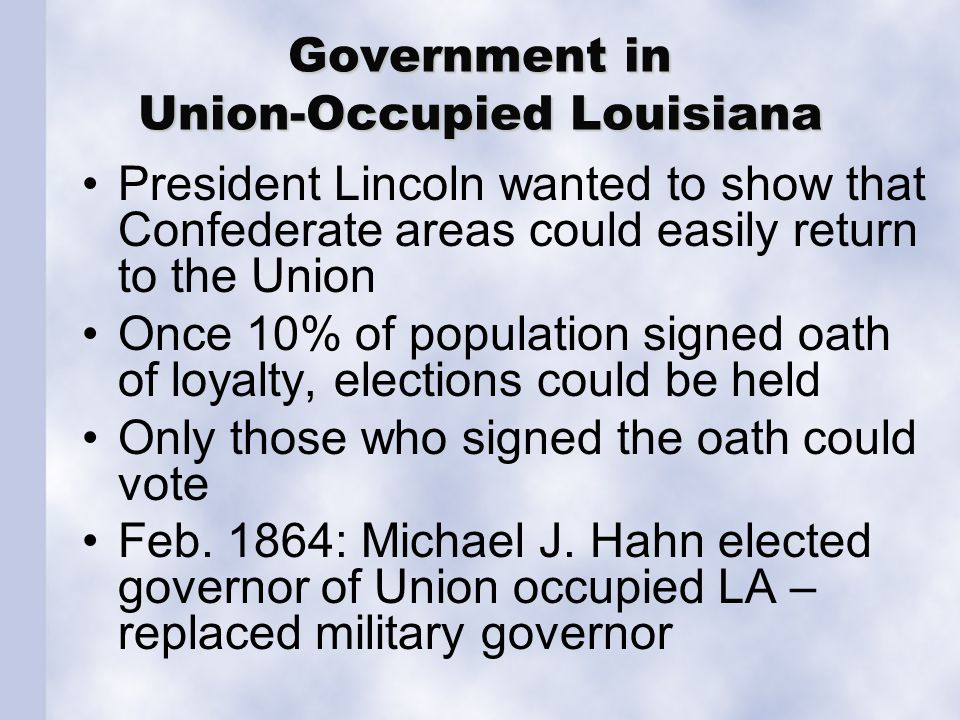 Government in Confederate Louisiana