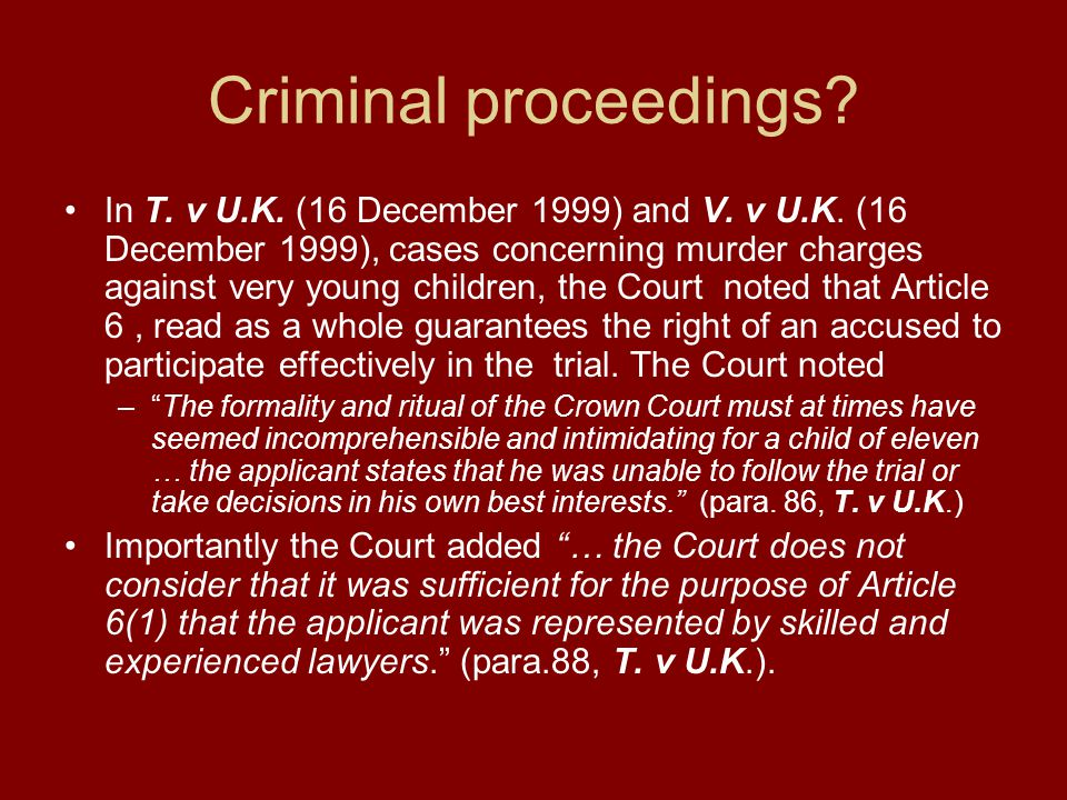 Criminal proceedings