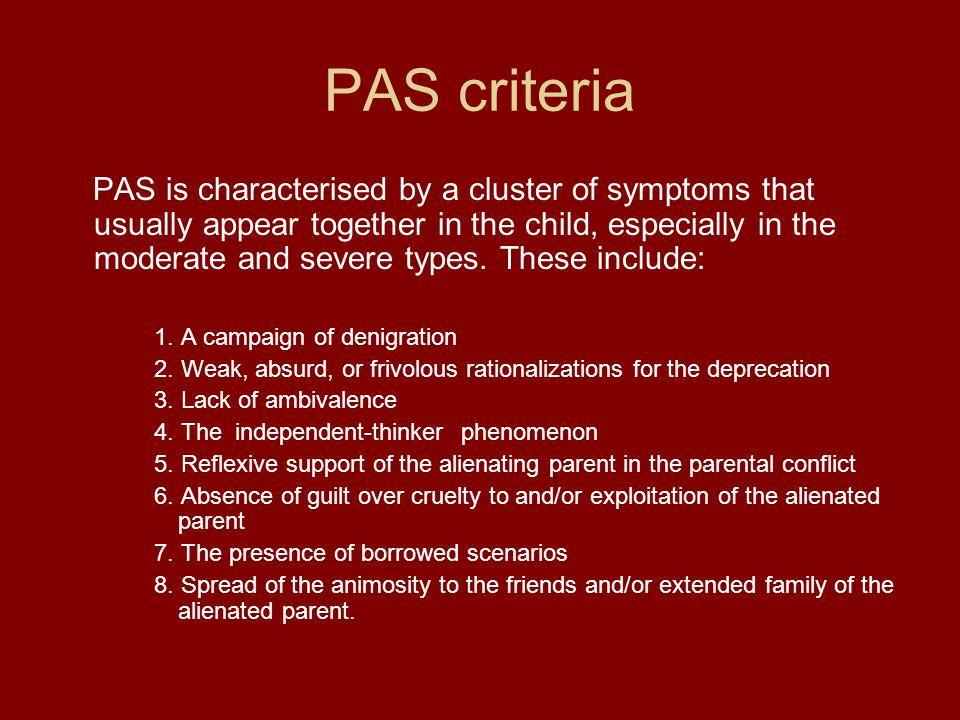 PAS criteria
