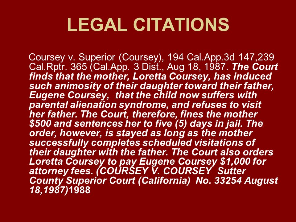 LEGAL CITATIONS