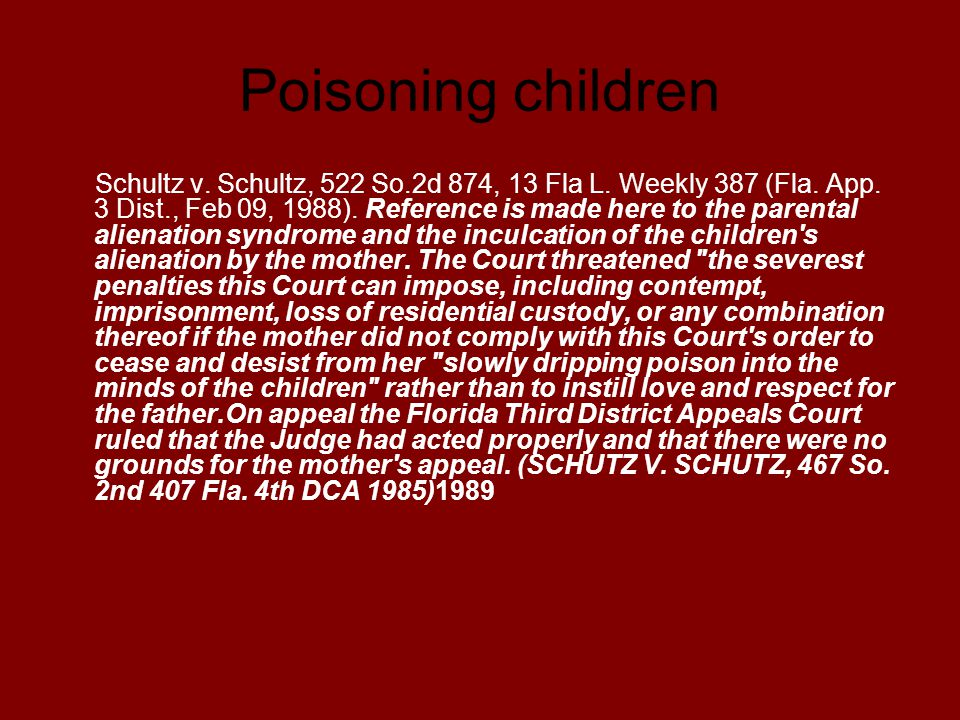 Poisoning children
