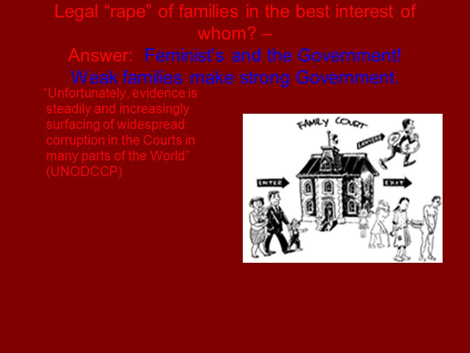 Legal rape of families in the best interest of whom