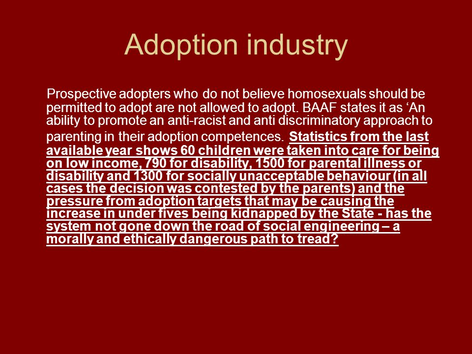 Adoption industry