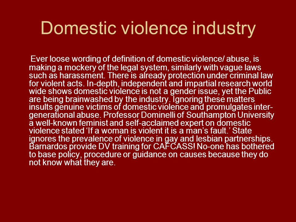 Domestic violence industry