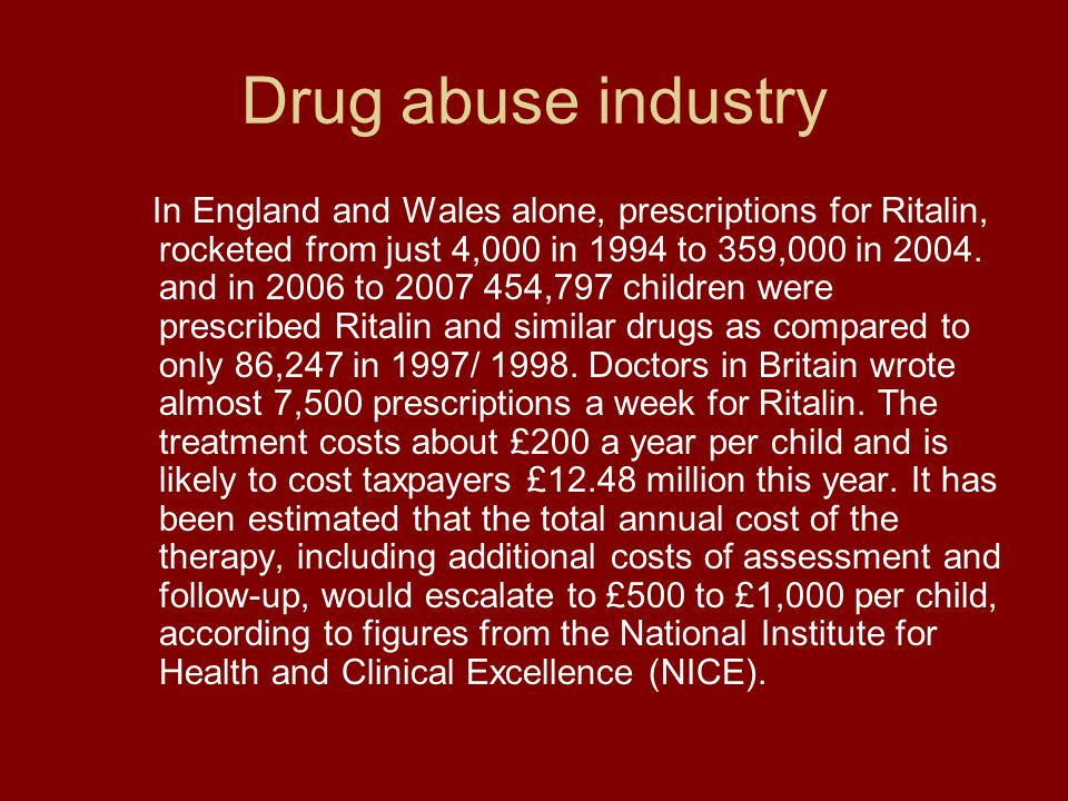 Drug abuse industry