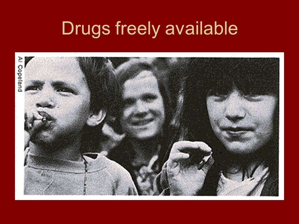 Drugs freely available