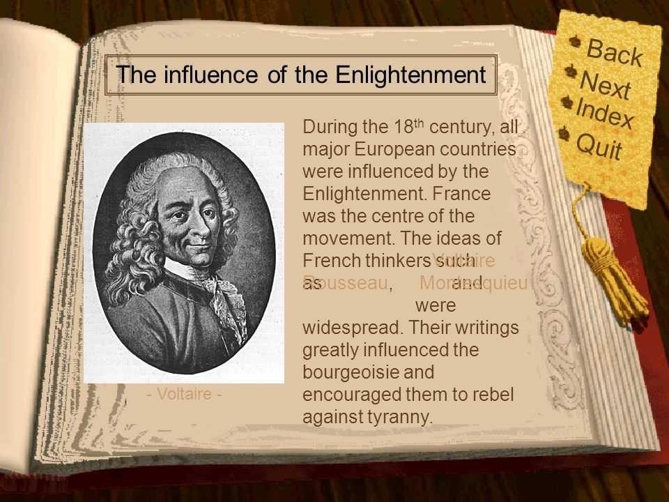 The influence of the Enlightenment