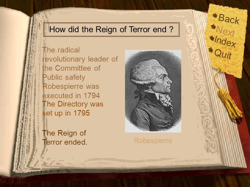 How did the Reign of Terror end