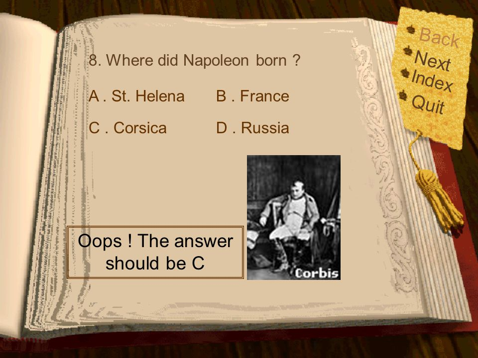 Oops ! The answer should be C