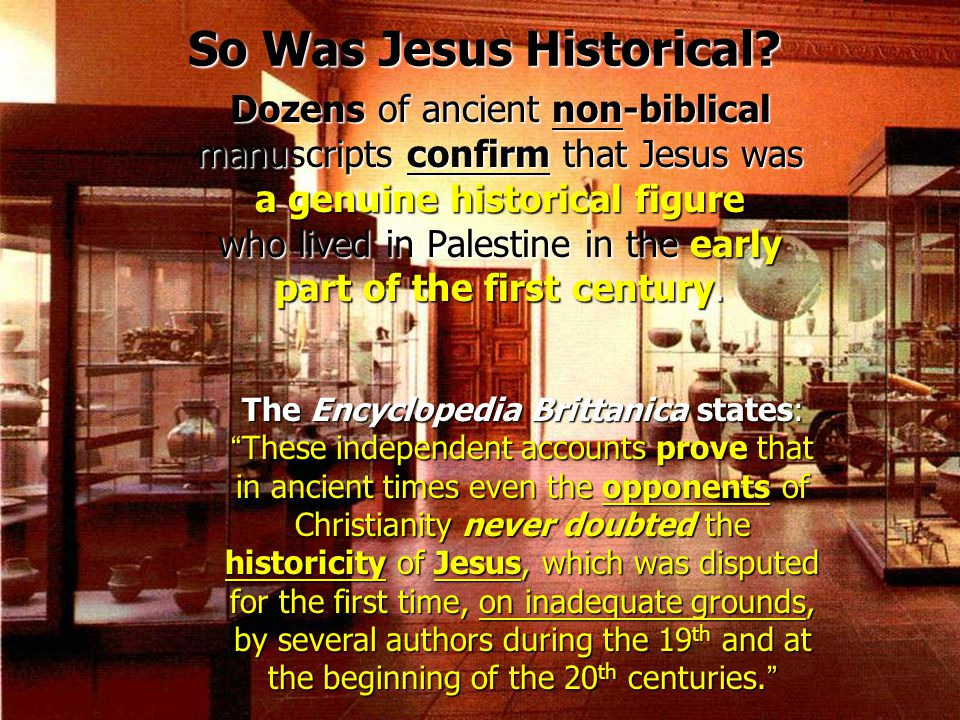 So Was Jesus Historical