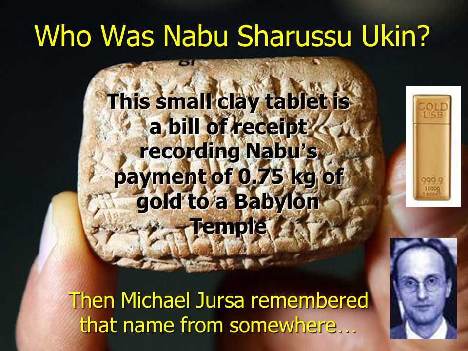 Who Was Nabu Sharussu Ukin