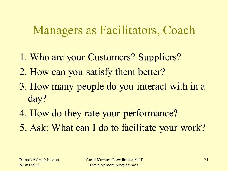 Managers as Facilitators, Coach