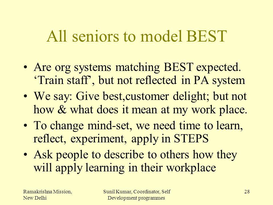 All seniors to model BEST