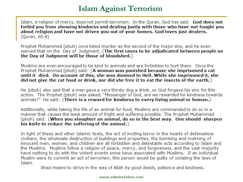 Islam Against Terrorism