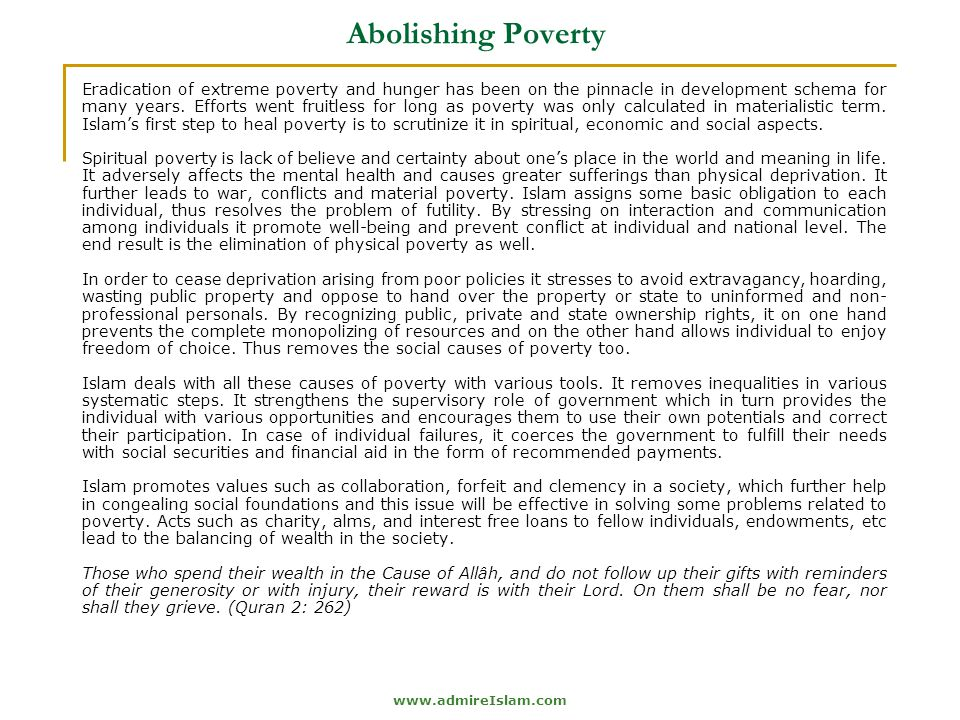 Abolishing Poverty
