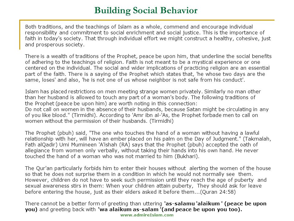 Building Social Behavior