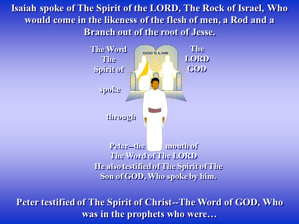 He also testified of The Spirit of The Son of GOD, Who spoke by him.
