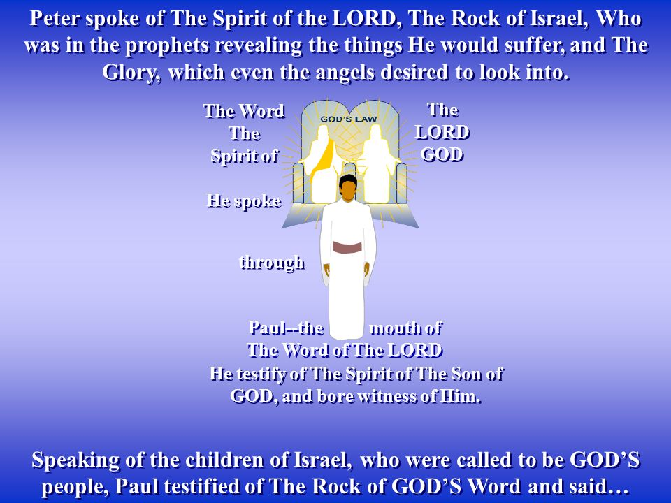 He testify of The Spirit of The Son of GOD, and bore witness of Him.