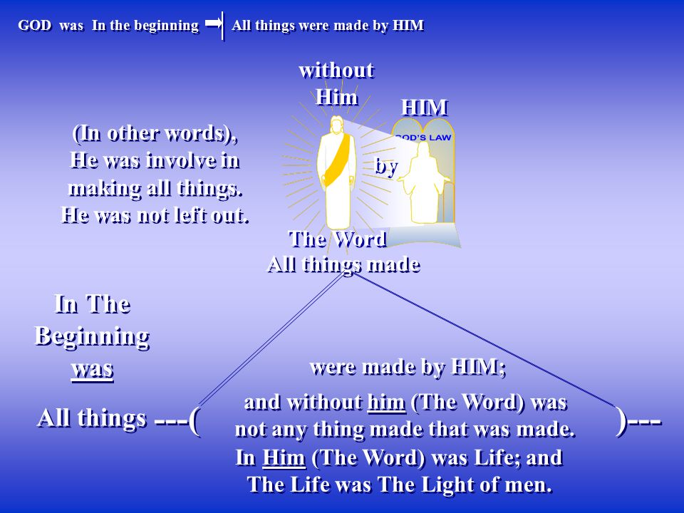 ---( )--- In The Beginning was All things without Him HIM