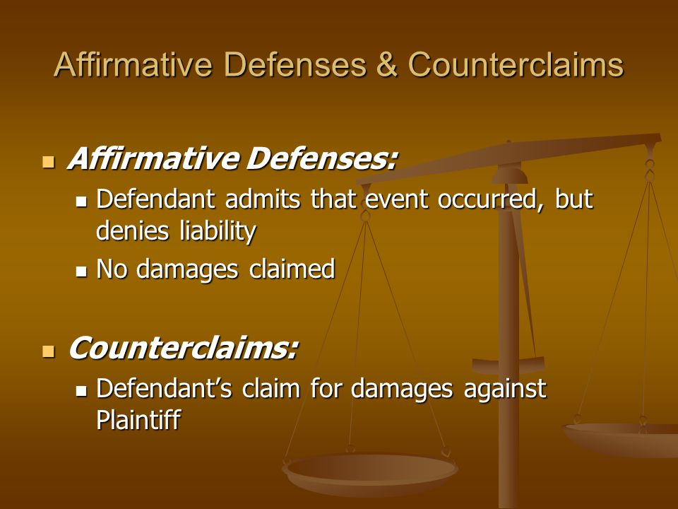 Affirmative Defenses & Counterclaims