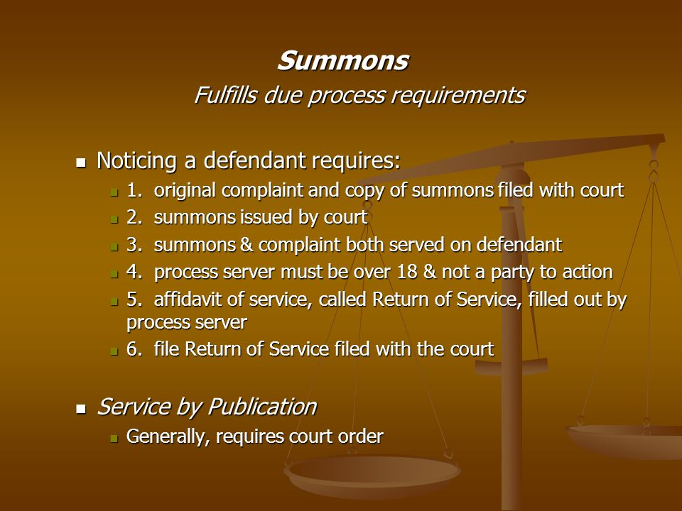 Fulfills due process requirements