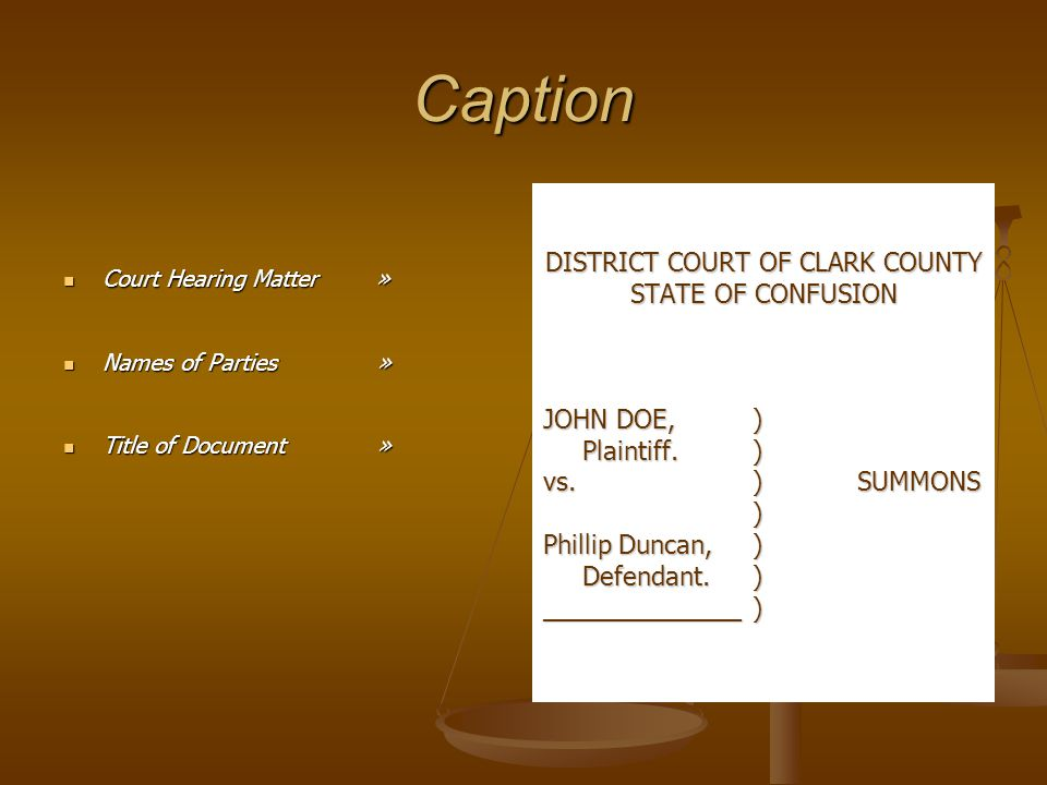 DISTRICT COURT OF CLARK COUNTY