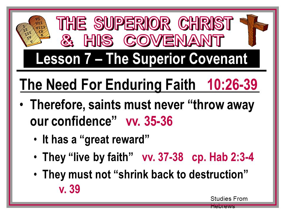 Lesson 7 – The Superior Covenant
