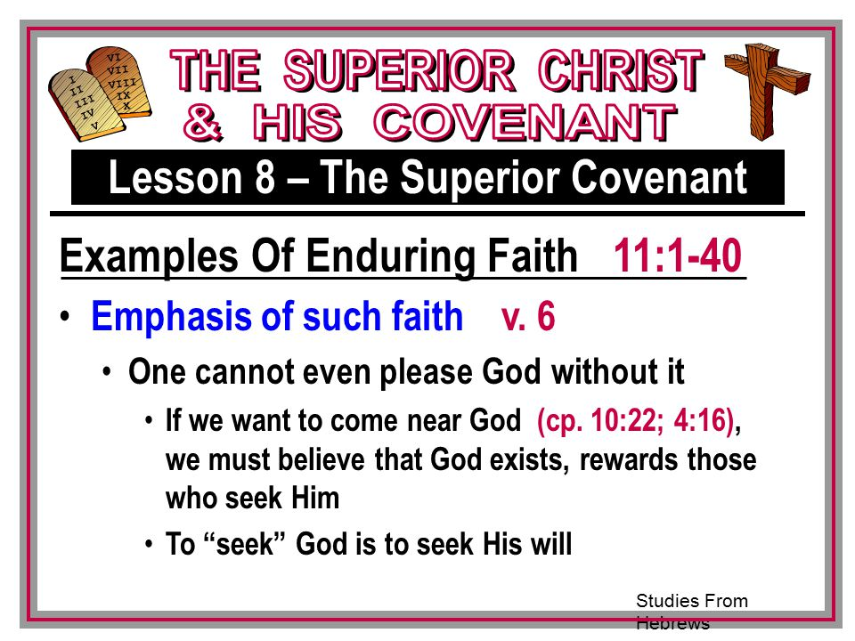 Lesson 8 – The Superior Covenant