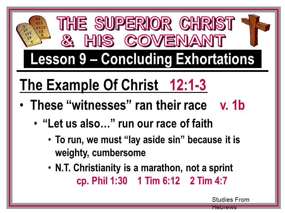 Lesson 9 – Concluding Exhortations